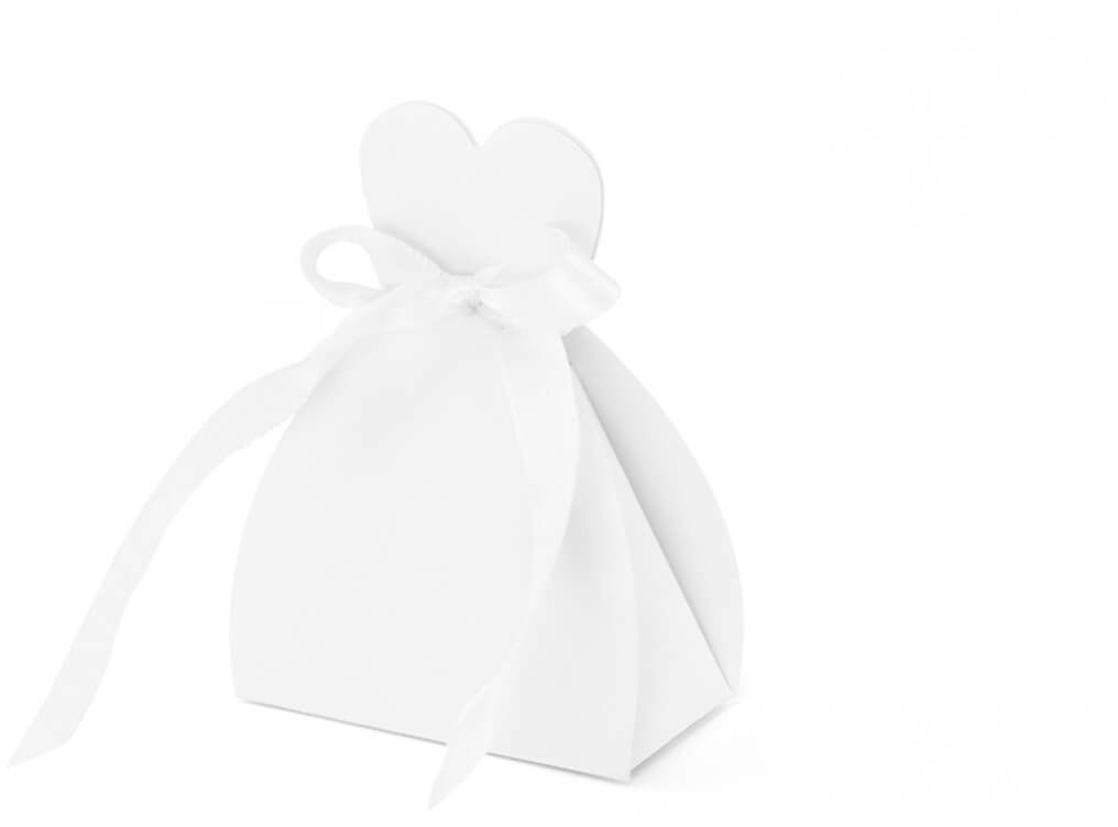 Pudełeczka dla gości weselnych - sukienka - 10 szt.