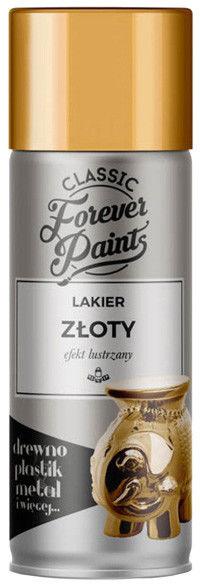 Lakier efekt lustrzany Forever Paints 400 ml złoty