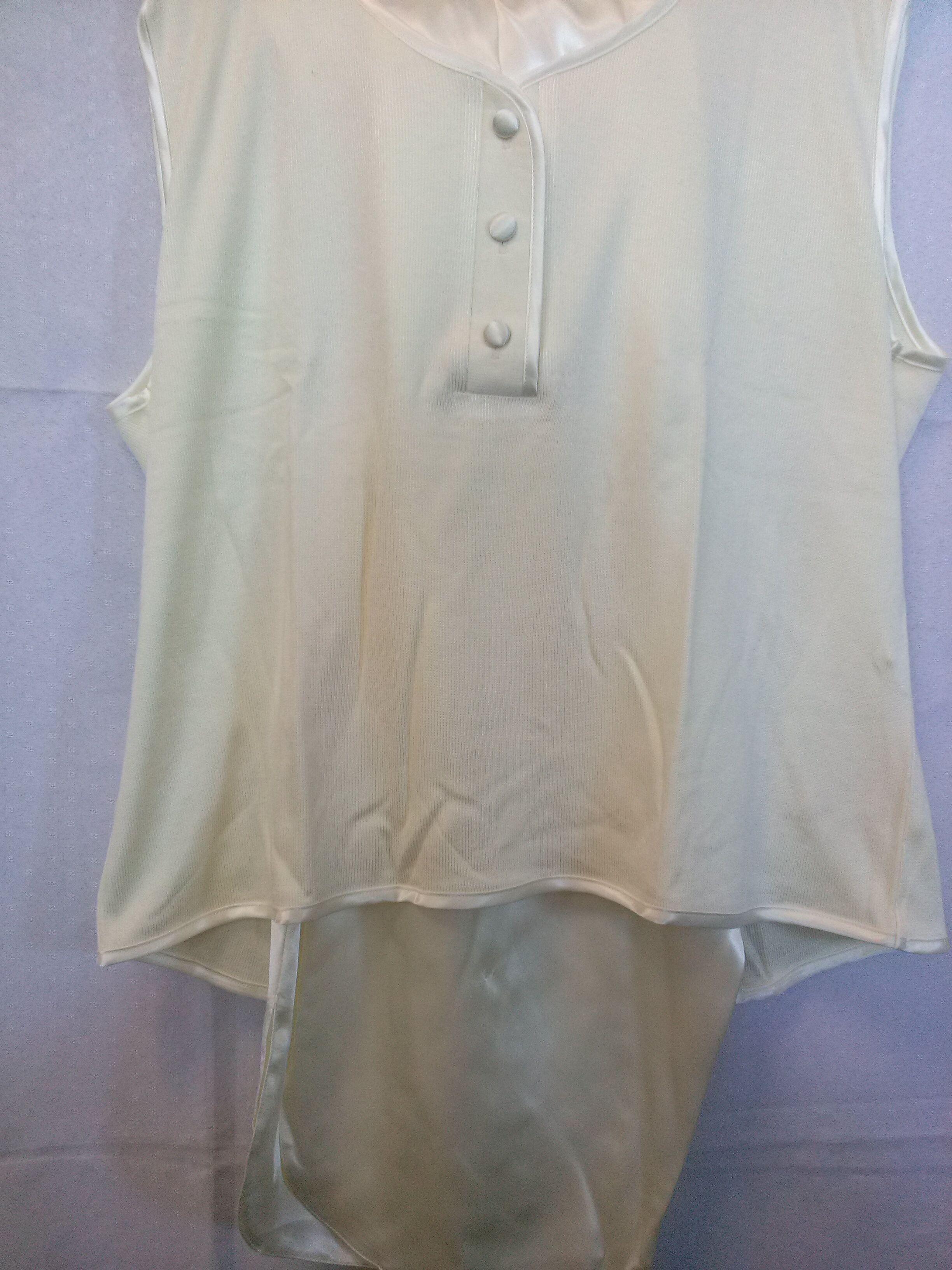Piżama damska krótka satynowa 113 rozmiar M kremowa z wiskozą Niska cena!!!