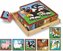 Melissa & Doug Puzzle Farm Cube