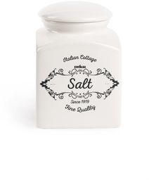 Excelsa Słoik na sól, ceramiczny, biały
