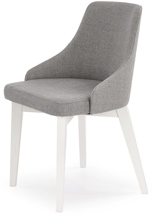 Krzesło drewniane Altex - popiel + białe