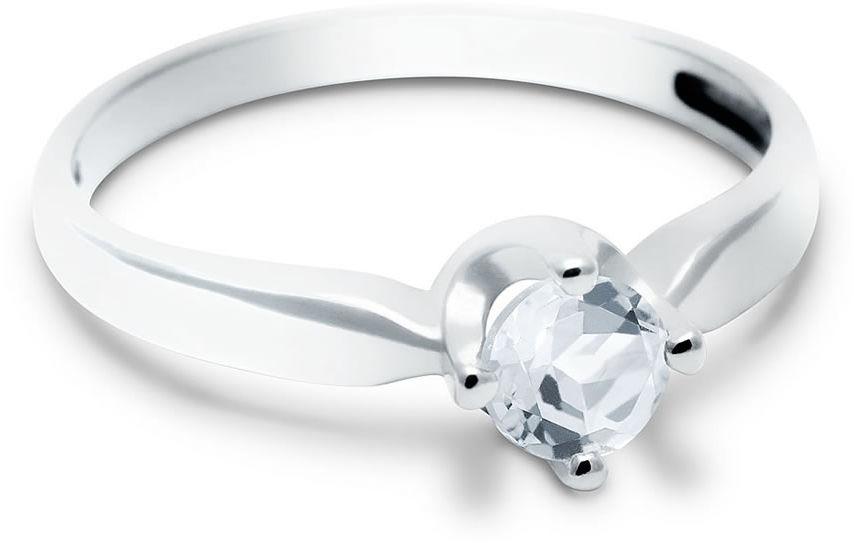 Kuźnia Srebra - Pierścionek srebrny, Biały Topaz, 2g, model