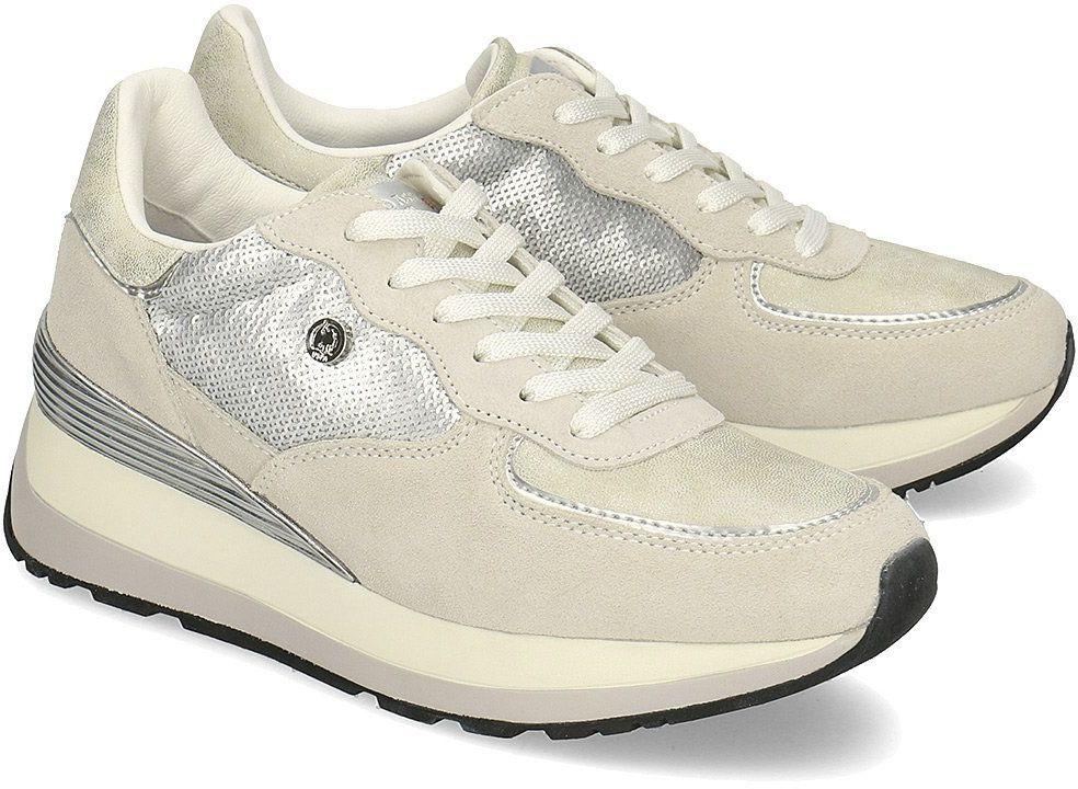 U.S. Polo Assn Valery1 - Sneakersy Damskie - YLA4011W8/ST1 SIL - Beżowy Szary