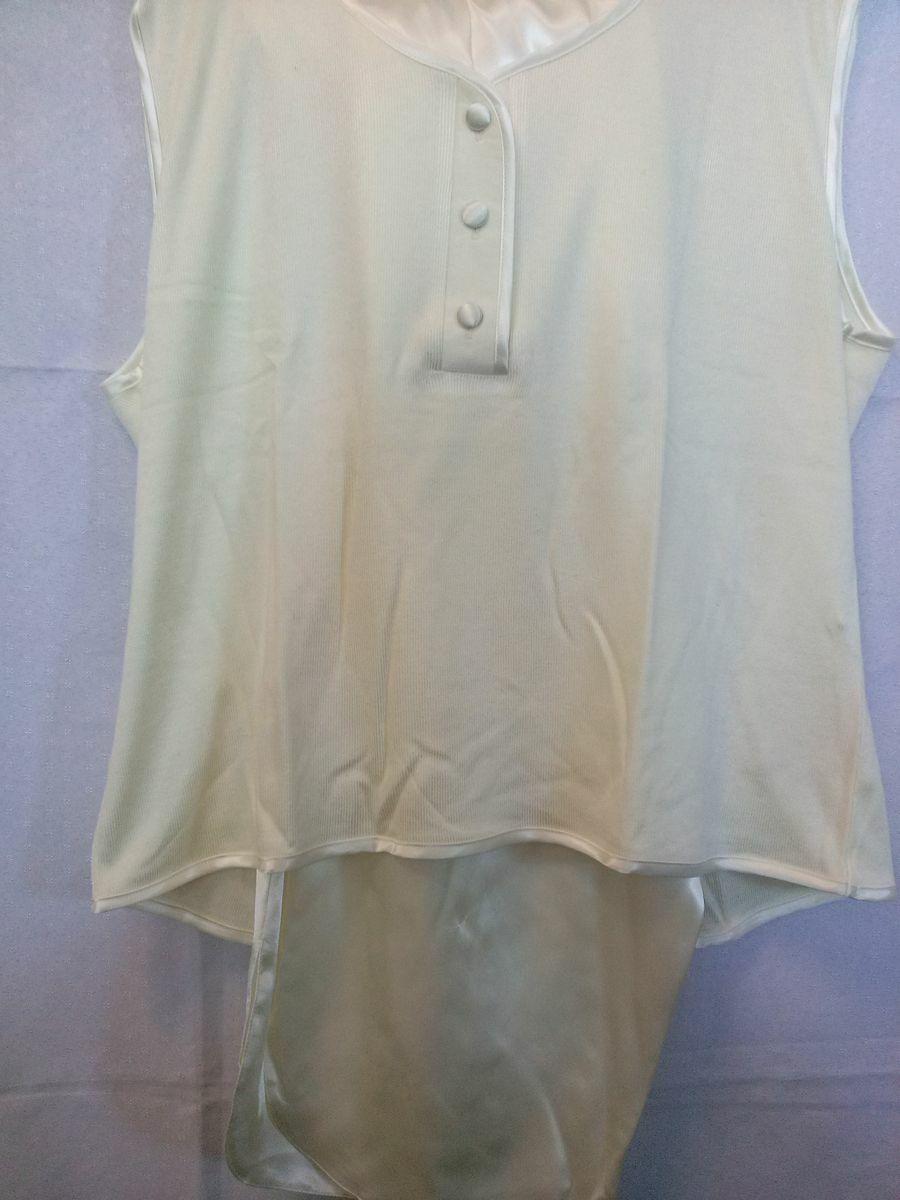 Piżama damska krótka satynowa 113 rozmiar L kremowa z wiskozą Niska cena!!!