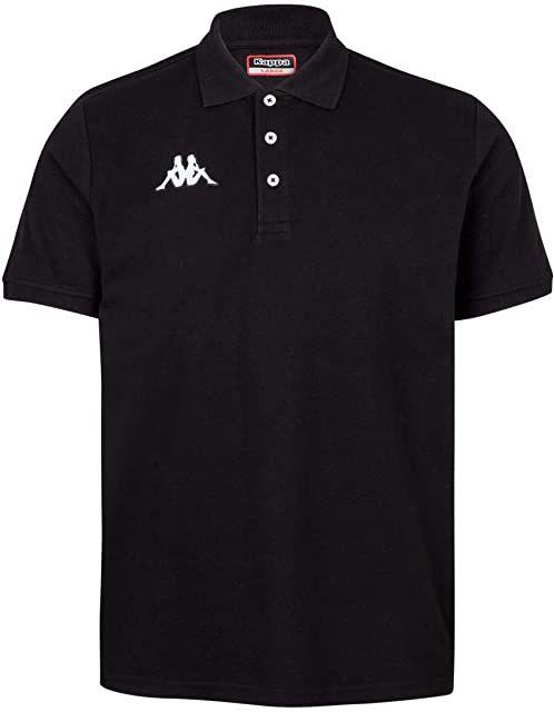 Kappa Męska koszulka polo Peglio, czarna, 10 lat