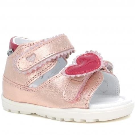 Bartek 71181/ NRG sandały sandałki półbuty profilaktyczne dziewczęce - złoty róż