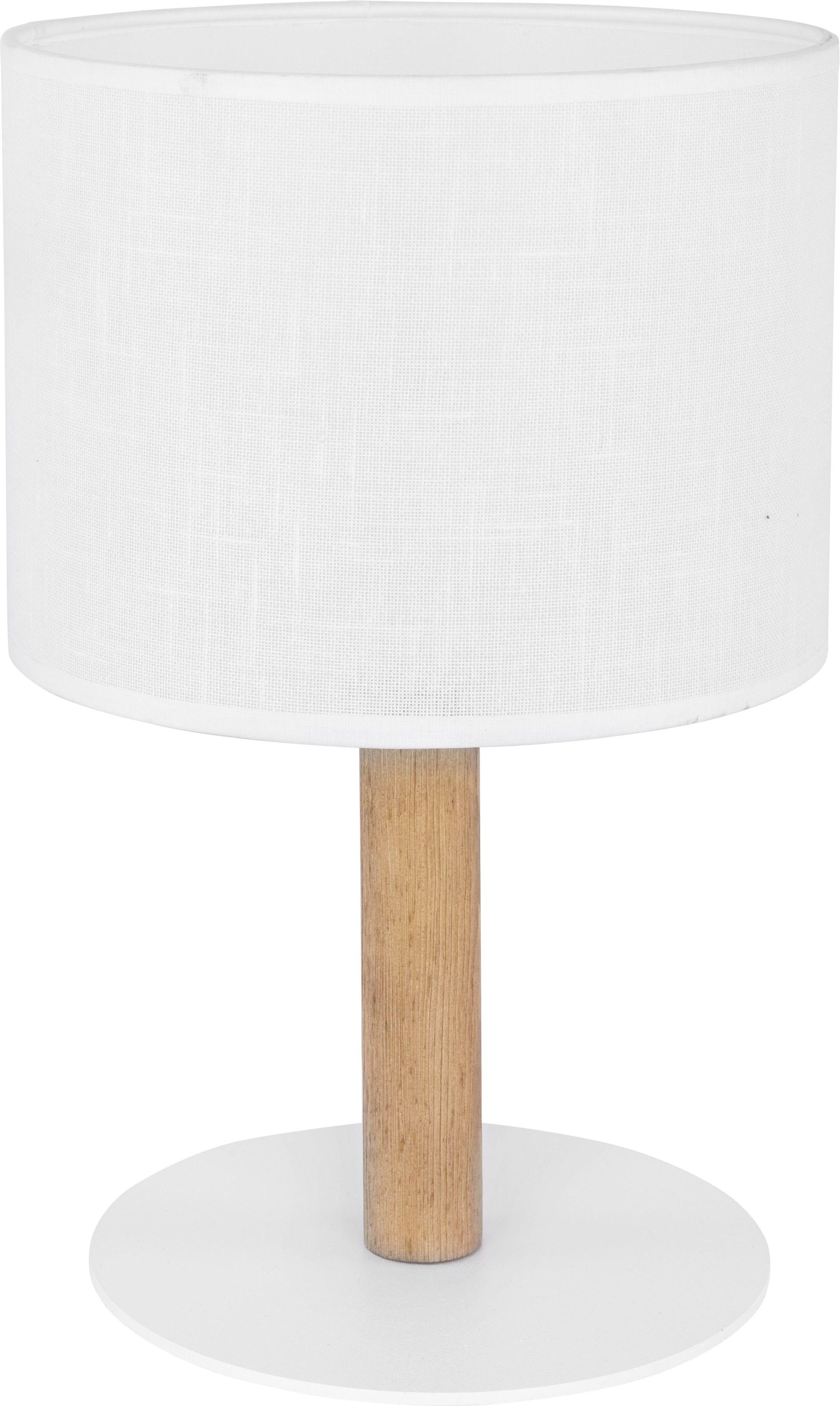 Lampka Deva White 1 punktowa biała z drewnem 5217 - TK Lighting Do -17% rabatu w koszyku i darmowa dostawa od 299zł !