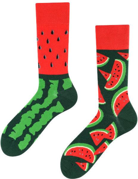 Juicy Watermelon, Todo Socks, Arbuz, Owoc, Kolorowe Skarpety
