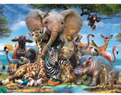 Ravensburger - Puzzle Afrykańscy przyjaciele 300 elem. 130757