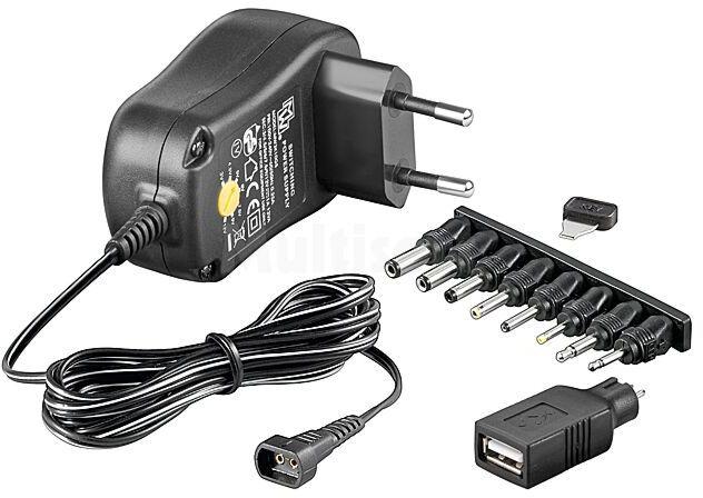 Zasilacz dogniazdkowy 3-12V DC USB 1000mA