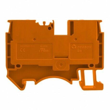 Złączka szynowa przelotowa zaciskowa pomarańczowa 2,5mm2 1P UL