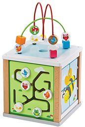 LELIN 31611 drewniane natura aktywność kostka koraliki drut labirynt kreatywne gry edukacyjne zabawka