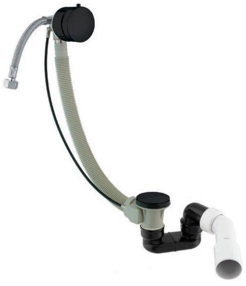Omnires syfon wannowy automatyczny z napełnianiem czarny TK122-PLUS-3.43+64-SBL