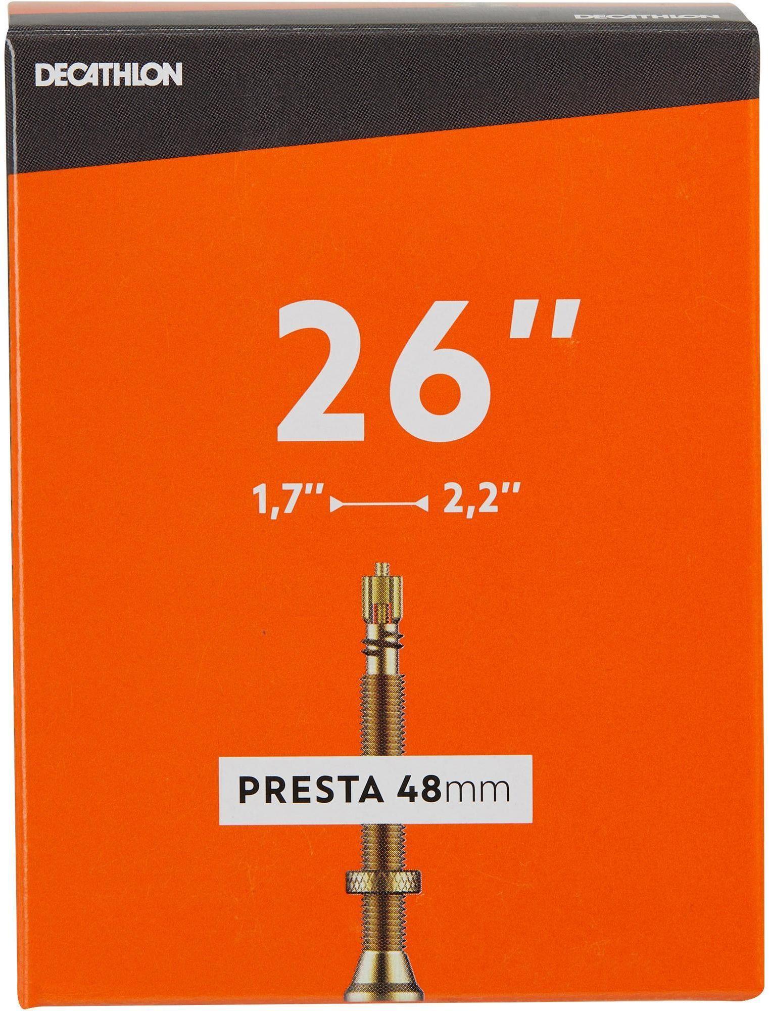 DĘTKA ROWEROWA 26x1,7/2,2 Z WENTYLEM PRESTA 48 MM