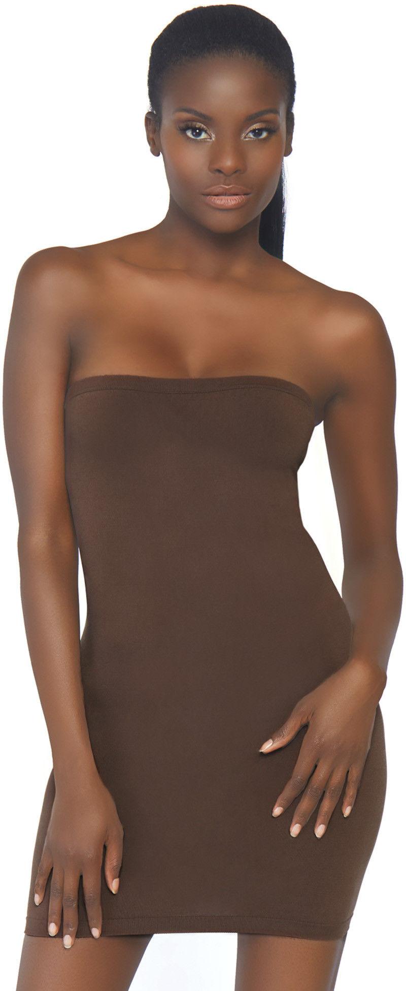 Leg Avenue Seamless Bodycon Tube Dress NK002 Deep Brown