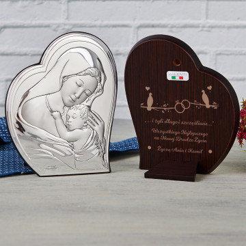 Długo i szczęśliwie - Matka Boska - Srebrny Obrazek z Grawerem