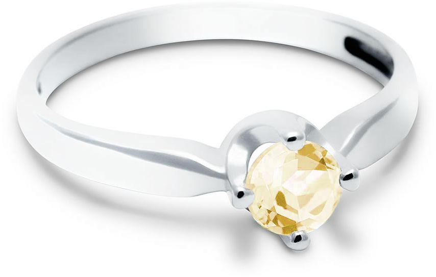 Kuźnia Srebra - Pierścionek srebrny, Cytryn, 2g, model