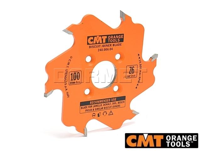 Frez lamello do drewna, średnica 100 mm, średnica otworu 22 mm, grubość zęba 3,96 mm - CMT (240.006.04)