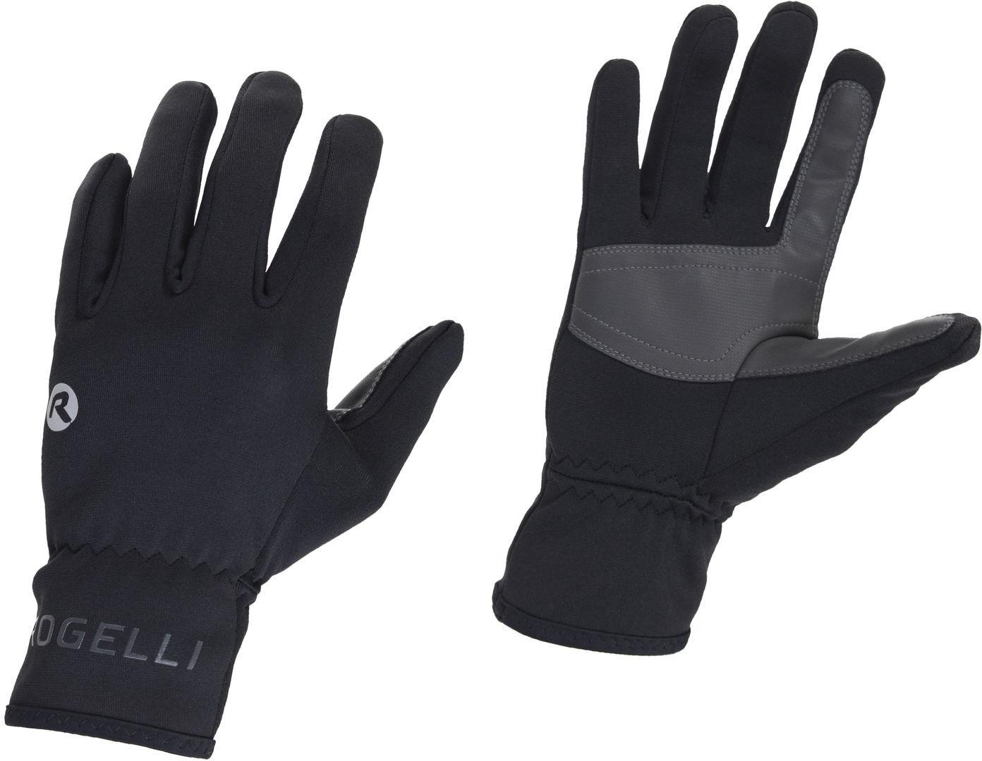 ROGELLI QLIMATE przejściowe ocieplane uniwersalne rękawiczki rowerowe, czarne Rozmiar: 2XL,006.129