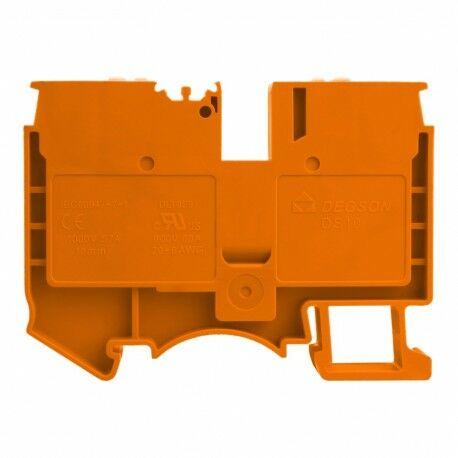 Złączka szynowa przelotowa zaciskowa pomarańczowa 10mm2 1P UL