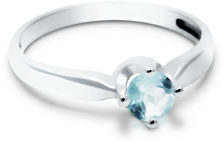 Kuźnia Srebra - Pierścionek srebrny, Sky Blue, 2g, model
