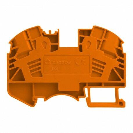 Złączka szynowa przelotowa zaciskowa pomarańczowa 16mm2 1P