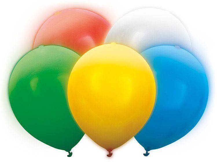 Świecące balony LED mix kolorów 30cm 5 sztuk BL12-3-000