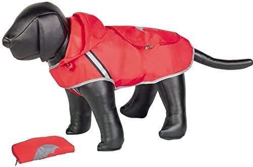 Nobby Rainy Dog płaszcz przeciwdeszczowy, 29 cm, czerwony