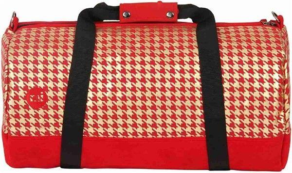 torba podróżna MI-PAC - Duffel Houndstooth Red/Gold (A02