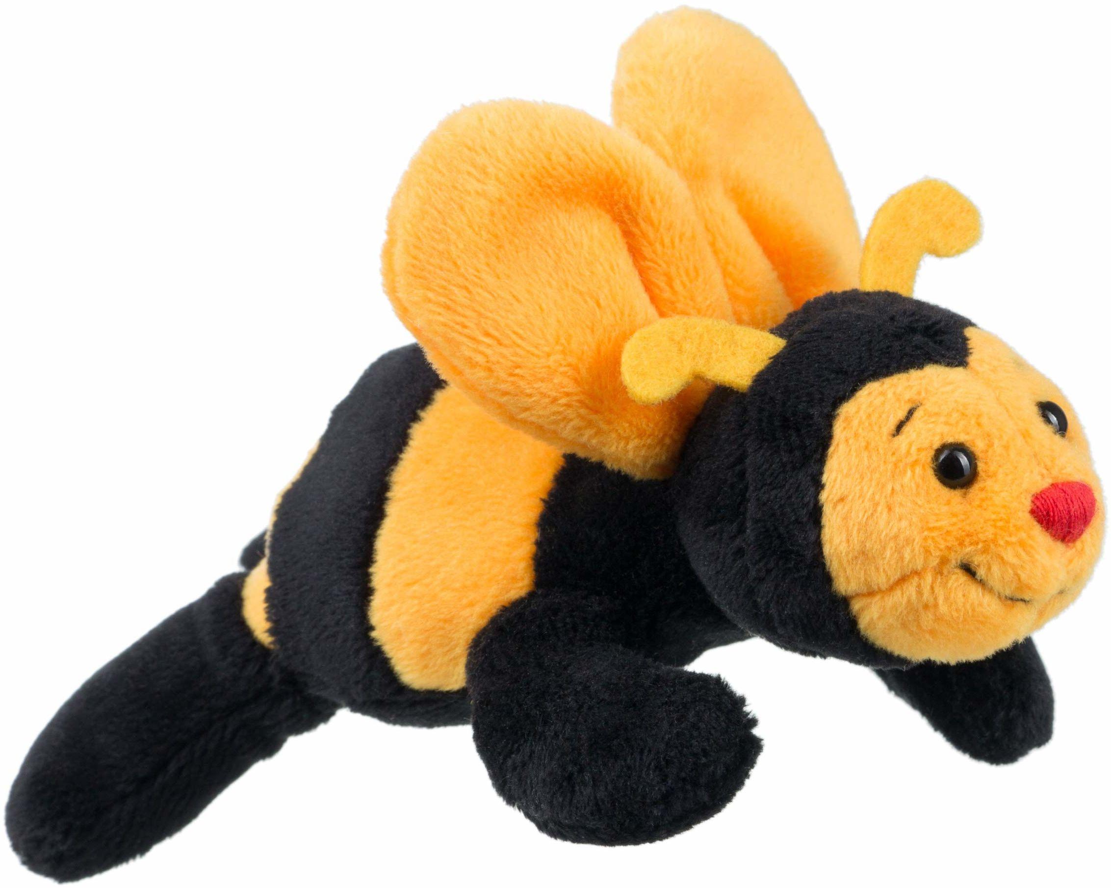 Schaffer 3546 Sabiene pszczoła pluszowe zwierzątko magnes, żółto-czarny, 12 cm