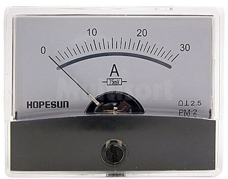 Analogowy amperomierz panelowy 30A DC