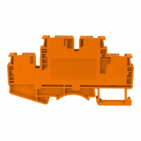 Złączka szynowa zaciskowa pomarańczowa 4mm2 2-piętrowa 4-przewodowa