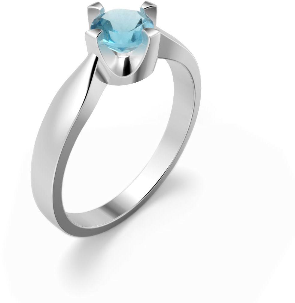 Kuźnia Srebra - Pierścionek srebrny, Swiss Blue, 2g, model