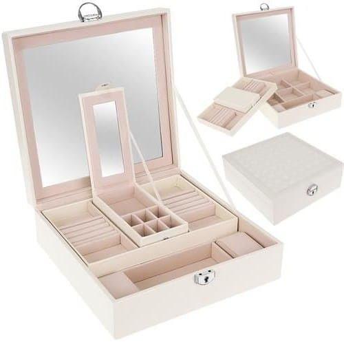 Kuferek na biżuterię biały XL