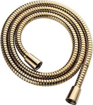 Wąż prysznicowy 125 cm, osłona stalowa, złoty