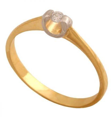 Złoty pierścionek zaręczynowy Pn576