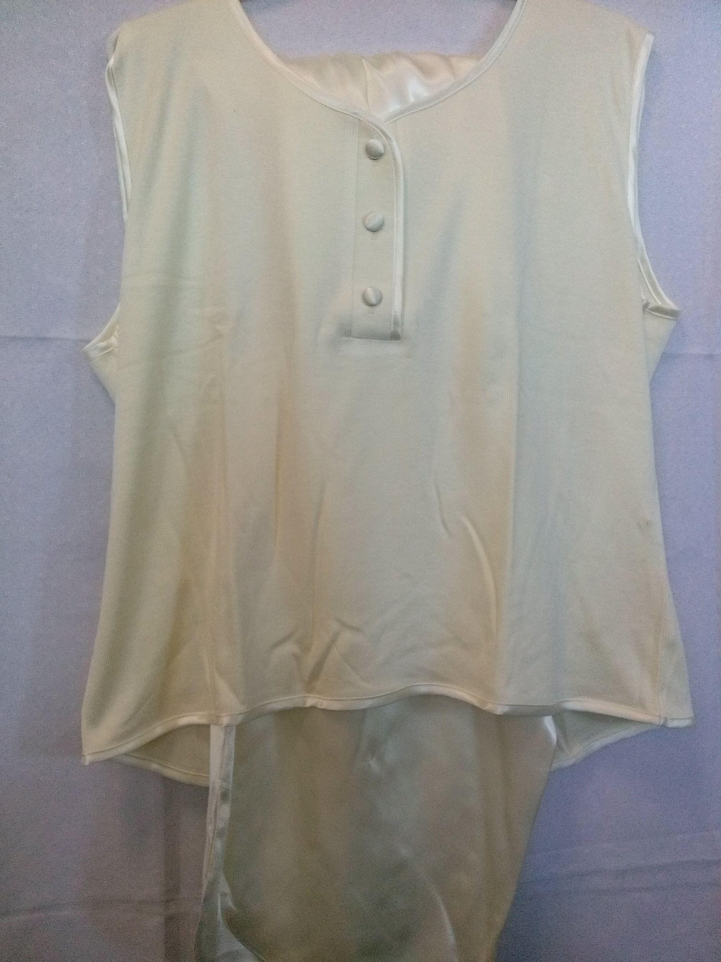 Piżama damska krótka satynowa 113 rozmiar XL kremowa z wiskozą Niska cena!!!