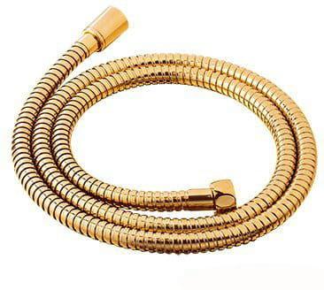 Wąż prysznicowy 150cm, oplot mosiężny,złoty