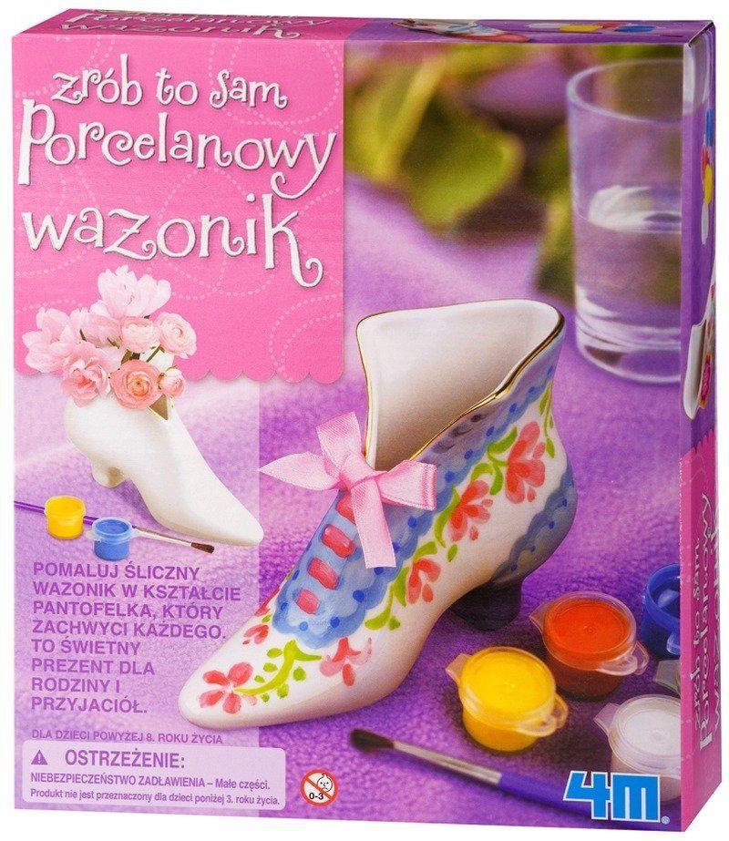 Porcelanowy wazonik - zrób to sam, Art.&Craft, 2758-4M, kreatywna zabawa, zabawki dla dziewczynek