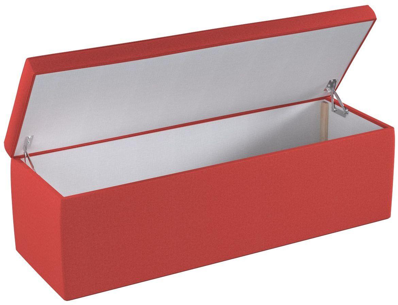 Skrzynia tapicerowana, jodełka zgaszona czerwień, 90  40  40 cm, do -50%