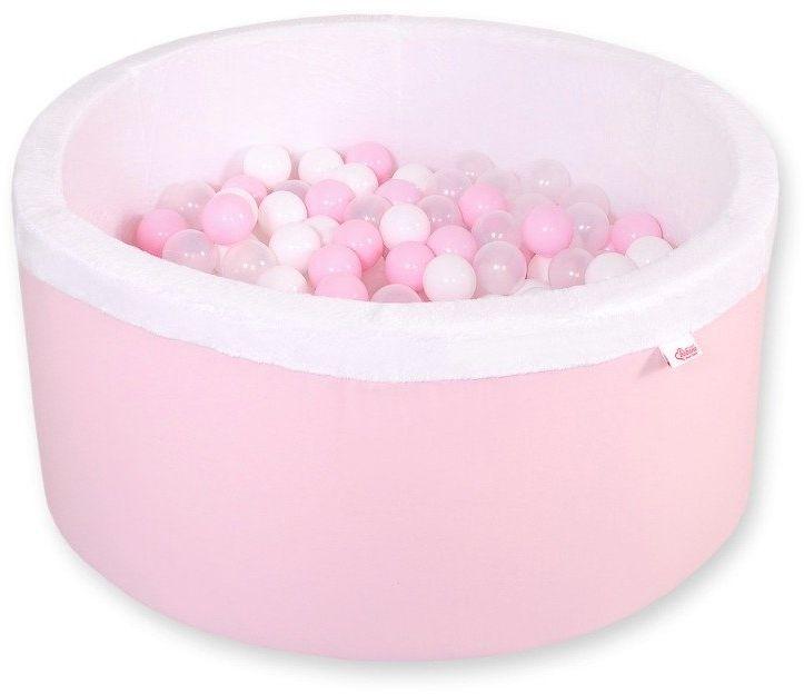 Różowy suchy basen z kulkami dla dzieci 517BM-Bobono, pokój dziecka i zabawki