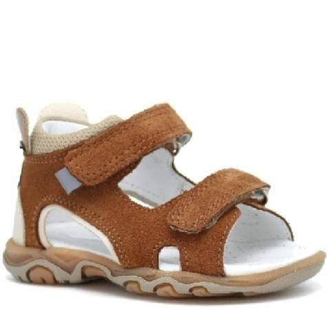 Bartek Baby 71144 - 010 sandałki sandały dla dzieci - brązowy z myszką na zapiętku