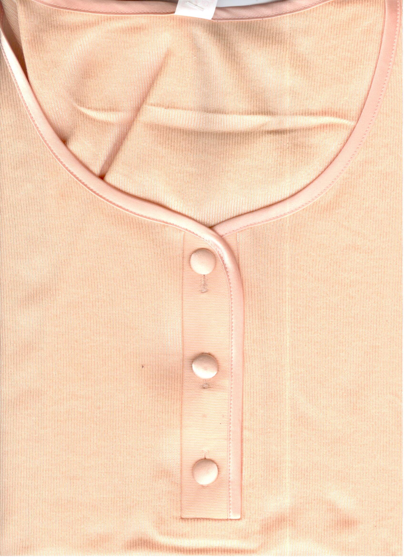 Piżama damska krótka satynowa 113 rozmiar XL łososiowa z wiskozą Niska cena!!!