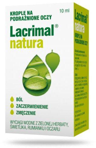 Lacrimal Natura krople na podrażnione oczy 10 ml