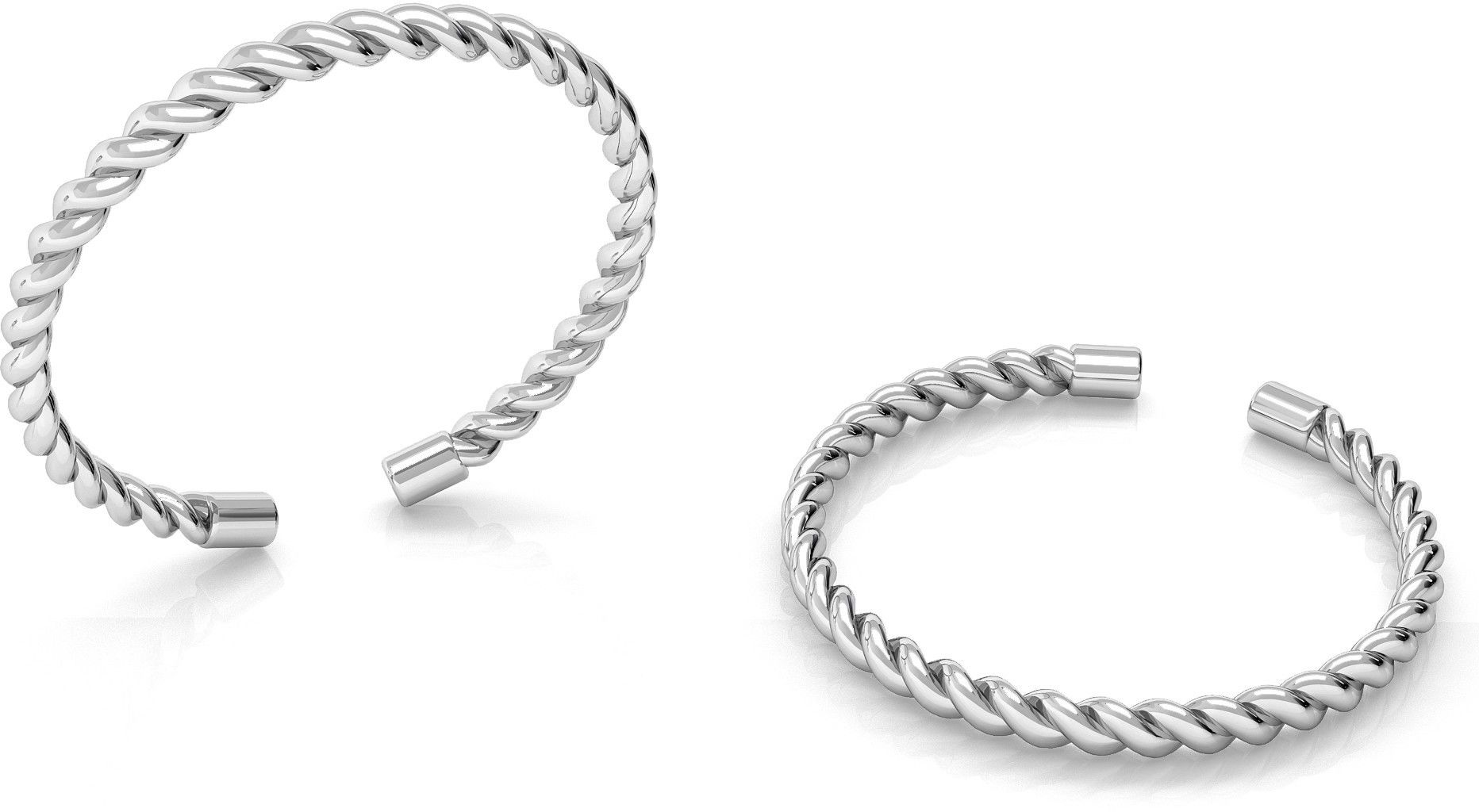 Srebrny pierścionek lina, sznurek, srebro 925 : Srebro - kolor pokrycia - Pokrycie platyną