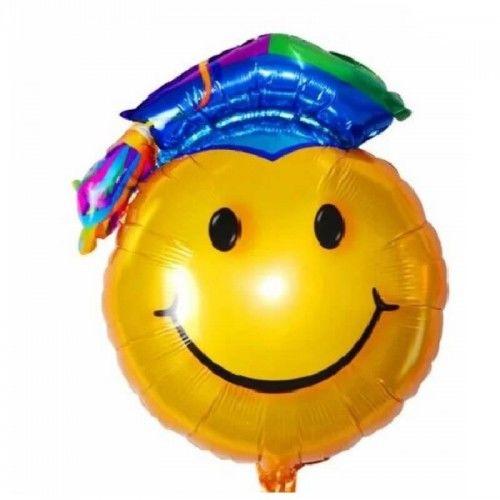 Balon foliowy Wesoły Absolwent w niebieskiej czapce, XL