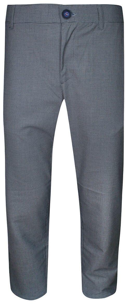Spodnie Męskie, Niebieskie w Pepitkę, Casualowe, Zwężane, Chinosy z Elastanem -RIGON SPRGNTB07pepitkaniebczar