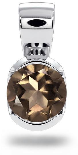 Kuźnia Srebra - Zawieszka srebrna, 11mm, Kwarc Dymny, 1g, model
