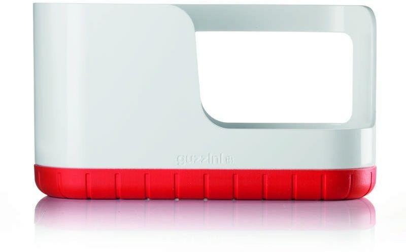 Guzzini - tidy & clean - organizer do zlewu, czerwony - czerwony